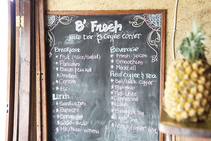 B' Fresh juice bar and coffee corner